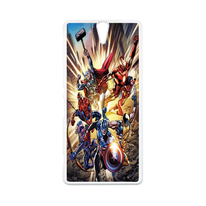 Haevencase Superhero Avengers 01 White Hardcase Casing For Sony Xperia C5
