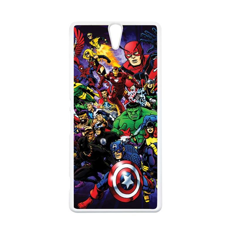 Haevencase Superhero Avengers 03 White Hardcase Casing For Sony Xperia C5