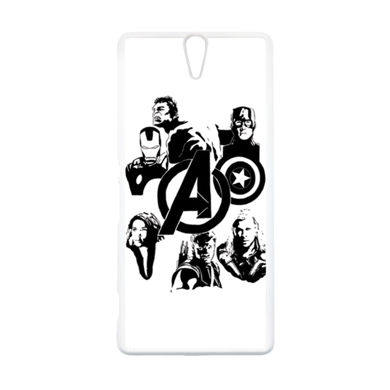 HEAVENCASE Superhero Avengers 06 Putih Hardcase Casing for Sony Xperia C5 Ultra