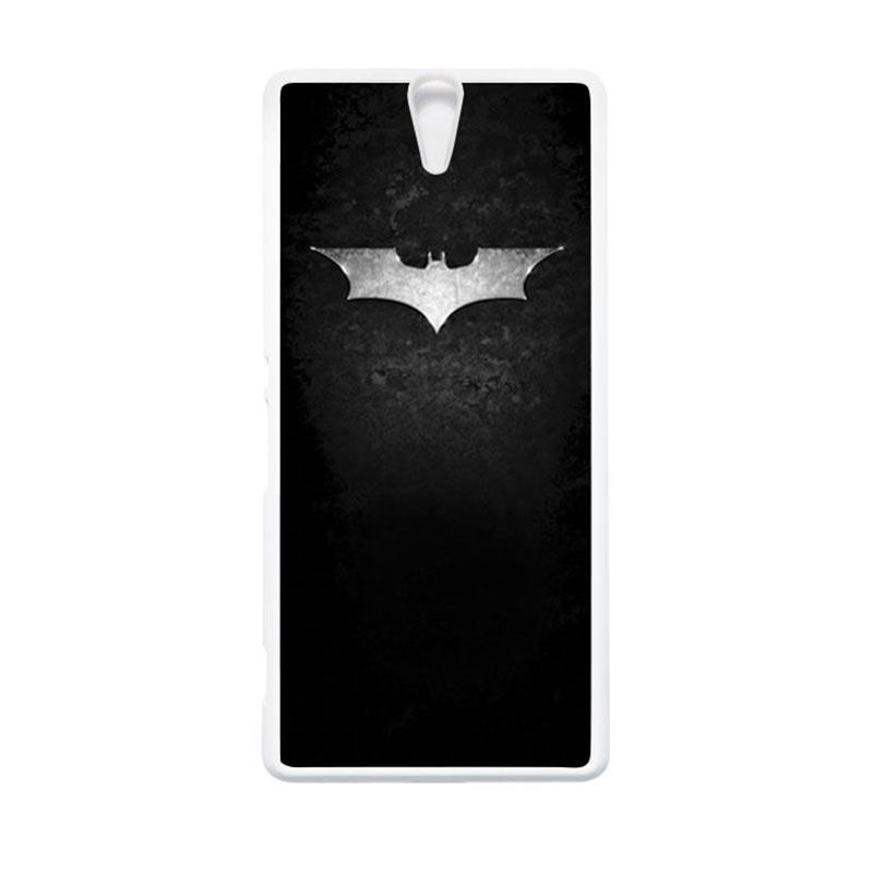 HEAVENCASE Superhero Batman 01 Putih Hardcase Casing for Sony Xperia C5 Ultra
