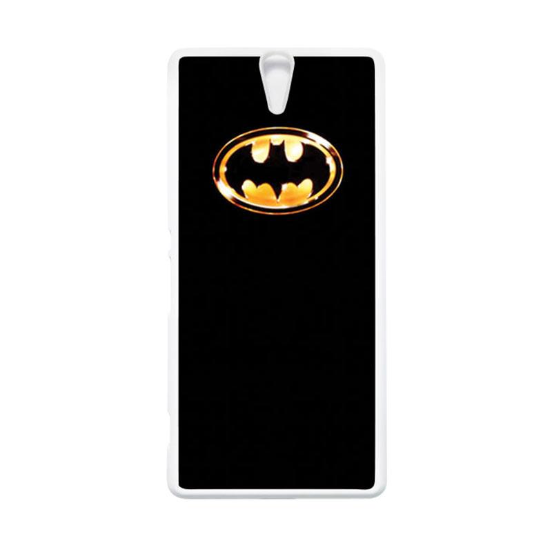 HEAVENCASE Superhero Batman 02 Putih Hardcase Casing for Sony Xperia C5 Ultra