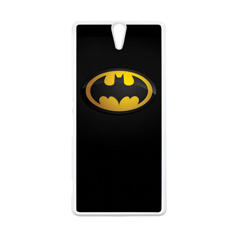 HEAVENCASE Superhero Batman 04 Putih Hardcase Casing for Sony Xperia C5 Ultra