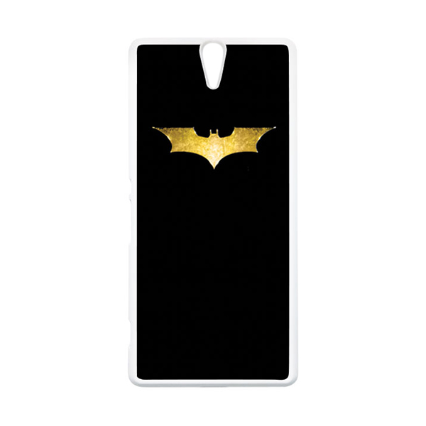 HEAVENCASE Superhero Batman 08 Putih Hardcase Casing for Sony Xperia C5 Ultra