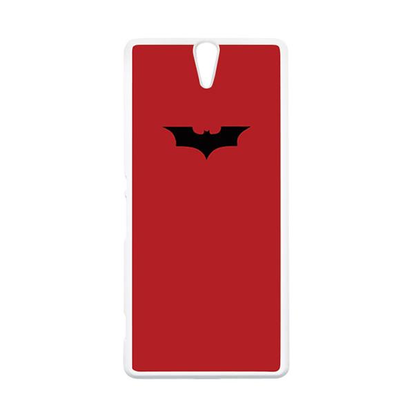 HEAVENCASE Superhero Batman 09 Putih Hardcase Casing for Sony Xperia C5 Ultra