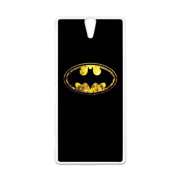HEAVENCASE Superhero Batman 10 Putih Hardcase Casing for Sony Xperia C5 Ultra