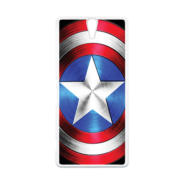 HEAVENCASE Superhero Captain America 02 Putih Hardcase Casing for Sony Xperia C5 Ultra