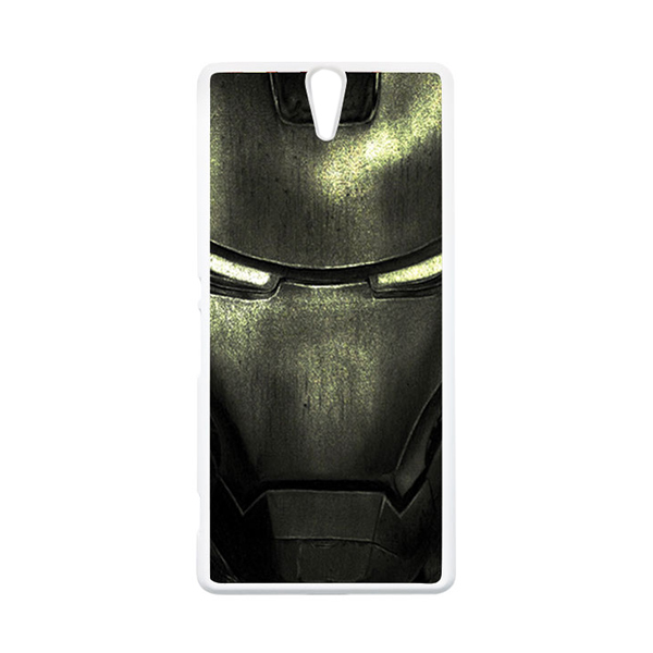 HEAVENCASE Superhero Ironman 03 Putih Hardcase Casing for Sony Xperia C5 Ultra