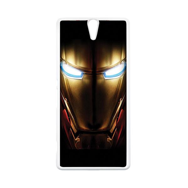 HEAVENCASE Superhero Ironman 04 Putih Hardcase Casing for Sony Xperia C5 Ultra