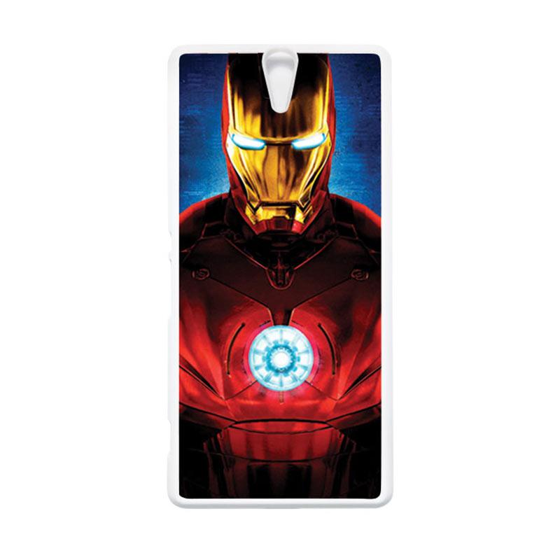 HEAVENCASE Superhero Ironman 06 Putih Hardcase Casing for Sony Xperia C5 Ultra