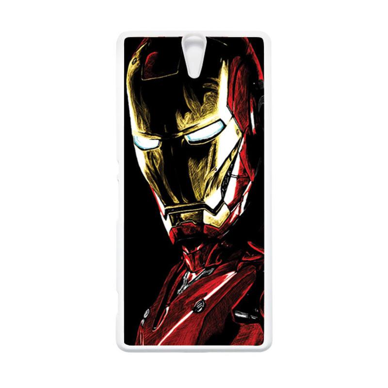 HEAVENCASE Superhero Ironman 09 Putih Hardcase Casing for Sony Xperia C5 Ultra