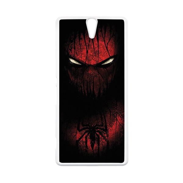 HEAVENCASE Superhero Spiderman 02 Putih Hardcase Casing for Sony Xperia C5 Ultra