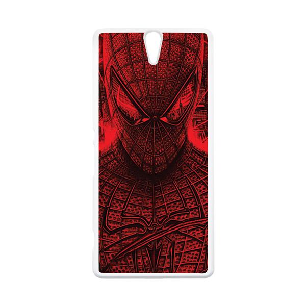 HEAVENCASE Superhero Spiderman 03 Putih Hardcase Casing for Sony Xperia C5 Ultra
