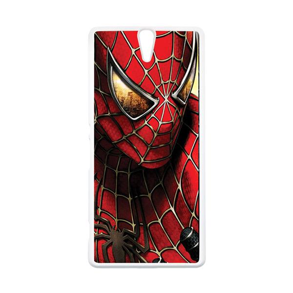 HEAVENCASE Superhero Spiderman 04 Putih Hardcase Casing for Sony Xperia C5 Ultra
