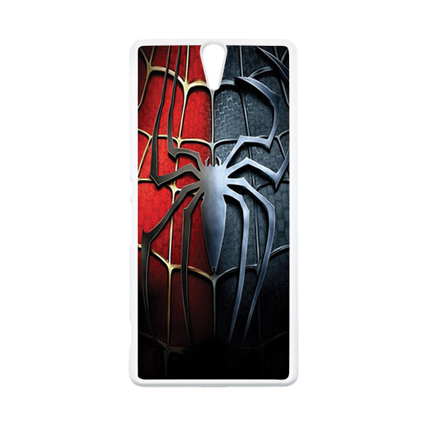 HEAVENCASE Superhero Spiderman 05 Putih Hardcase Casing for Sony Xperia C5 Ultra
