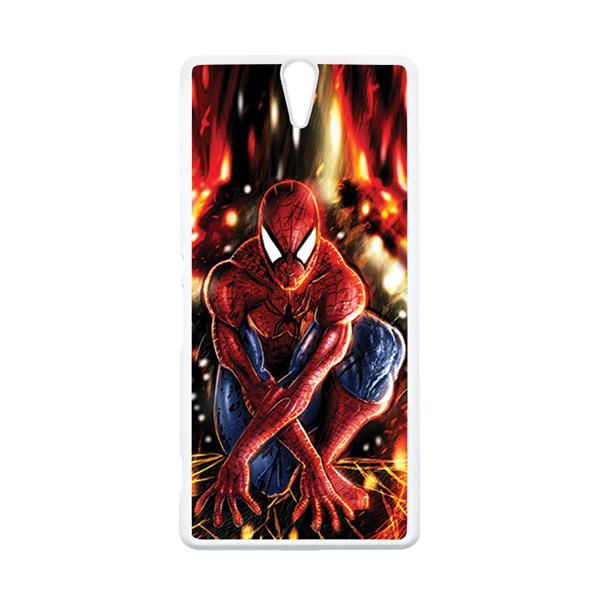 HEAVENCASE Superhero Spiderman 06 Putih Hardcase Casing for Sony Xperia C5 Ultra