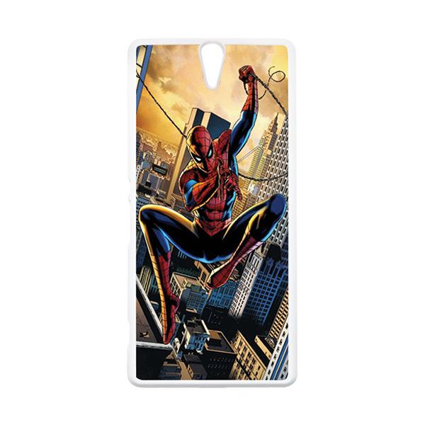 HEAVENCASE Superhero Spiderman 10 Putih Hardcase Casing for Sony Xperia C5 Ultra