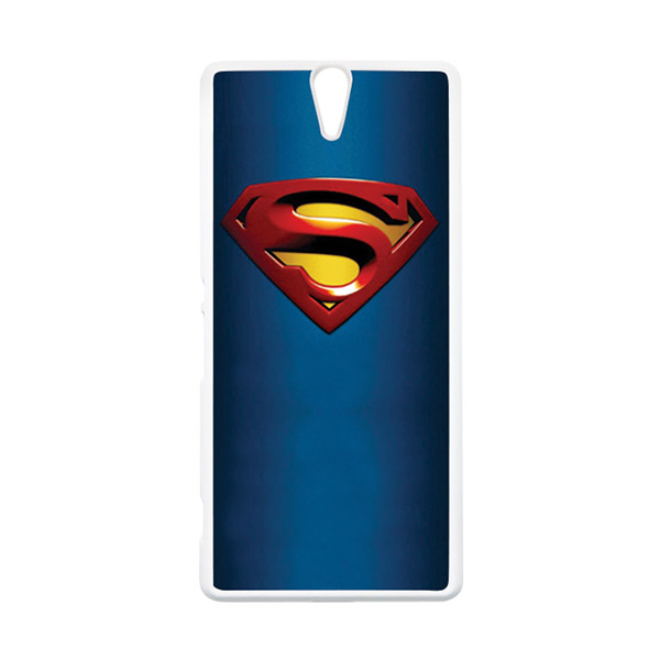 HEAVENCASE Superhero Superman 01 Putih Hardcase Casing for Sony Xperia C5 Ultra