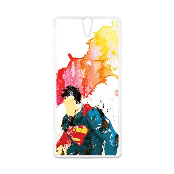 HEAVENCASE Superhero Superman 07 Putih Hardcase Casing for Sony Xperia C5 Ultra