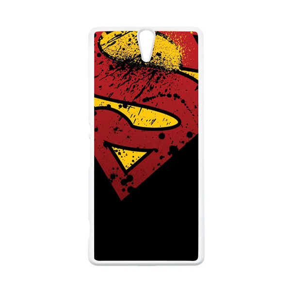 HEAVENCASE Superhero Superman 11 Putih Hardcase Casing for Sony Xperia C5 Ultra