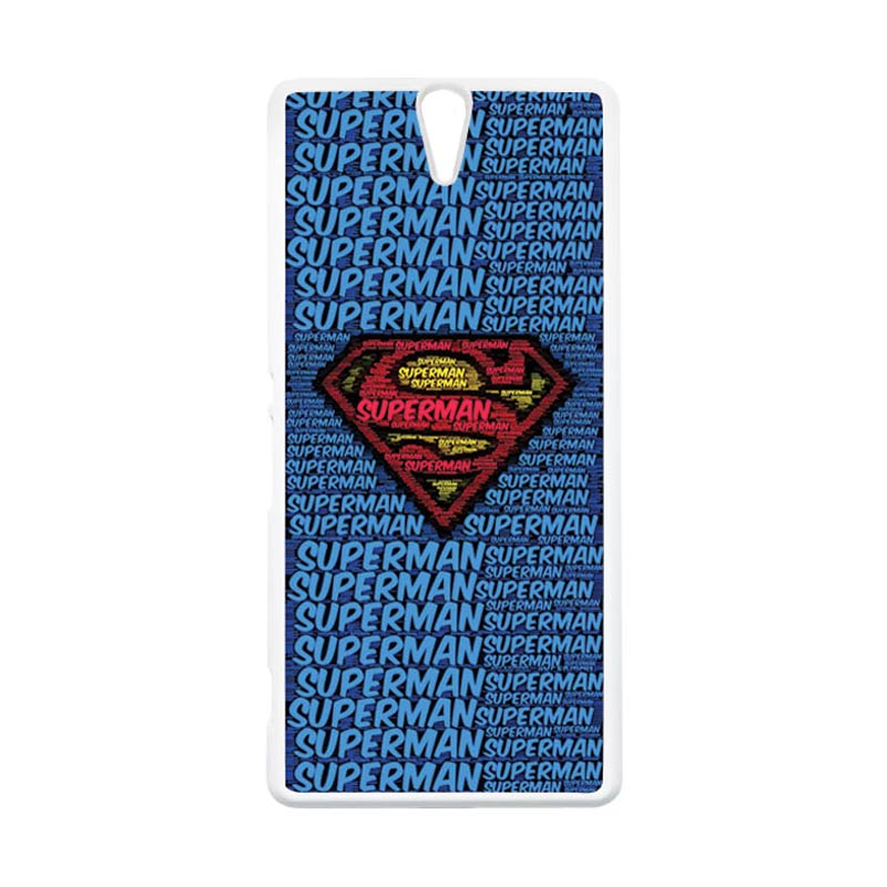 HEAVENCASE Superhero Superman 12 Putih Hardcase Casing for Sony Xperia C5 Ultra