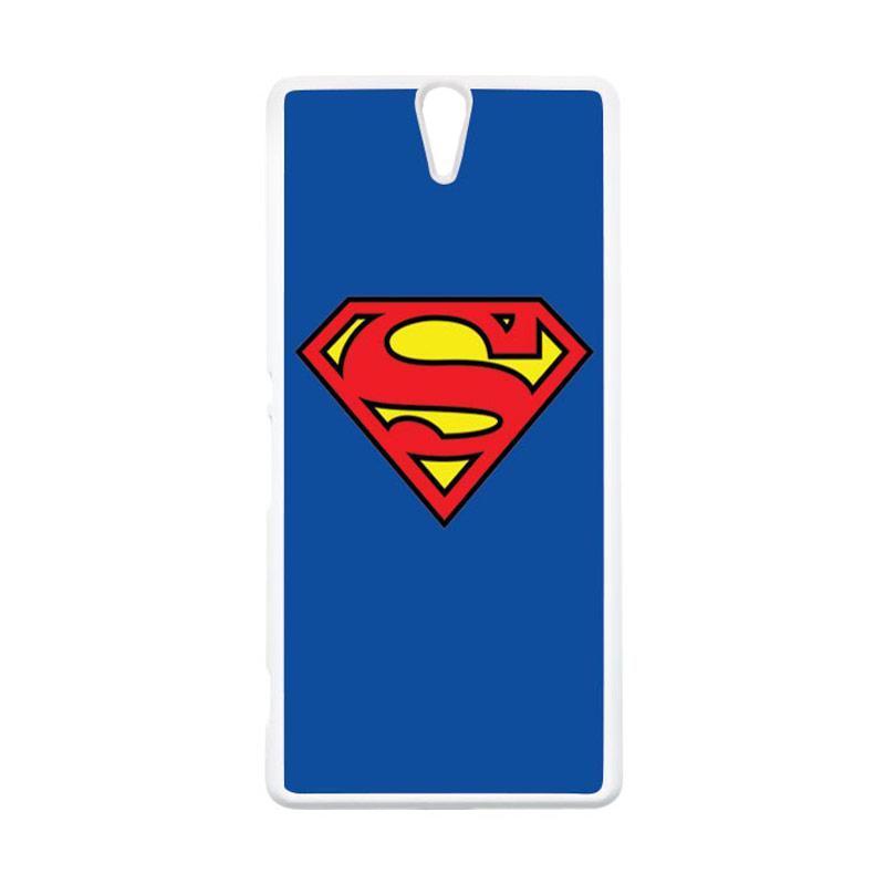 HEAVENCASE Superhero Superman 13 Putih Hardcase Casing for Sony Xperia C5 Ultra