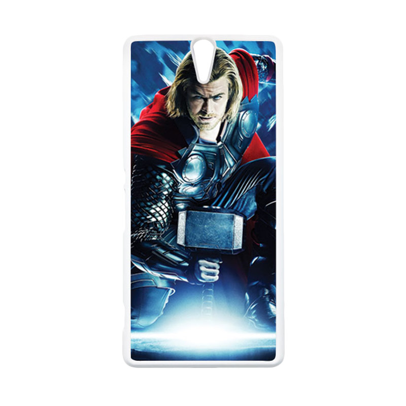 HEAVENCASE Thor 01 Putih Hardcase Casing for Sony Xperia C5 Ultra
