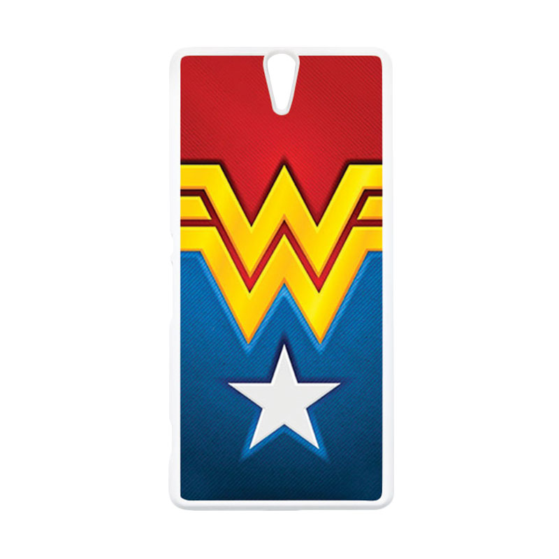 HEAVENCASE Wonder Woman 02 Putih Hardcase Casing for Sony Xperia C5 Ultra