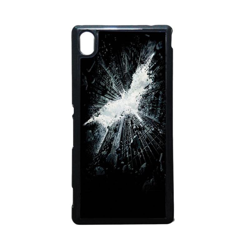 HEAVENCASE Batman 07 Putih Hardcase Casing for Sony Xperia M4 Aqua