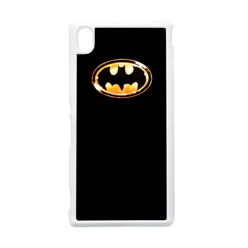 HEAVENCASE Batman 02 Putih Hardcase Casing Sony Xperia M4 Aqua