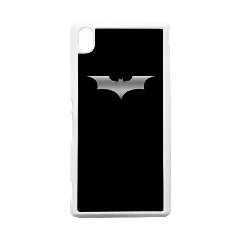 HEAVENCASE Batman 03 Putih Hardcase Casing Sony Xperia M4 Aqua