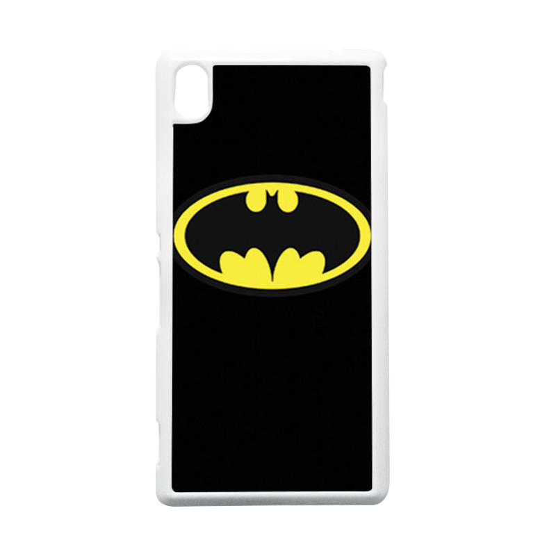 HEAVENCASE Batman 05 Putih Hardcase Casing Sony Xperia M4 Aqua
