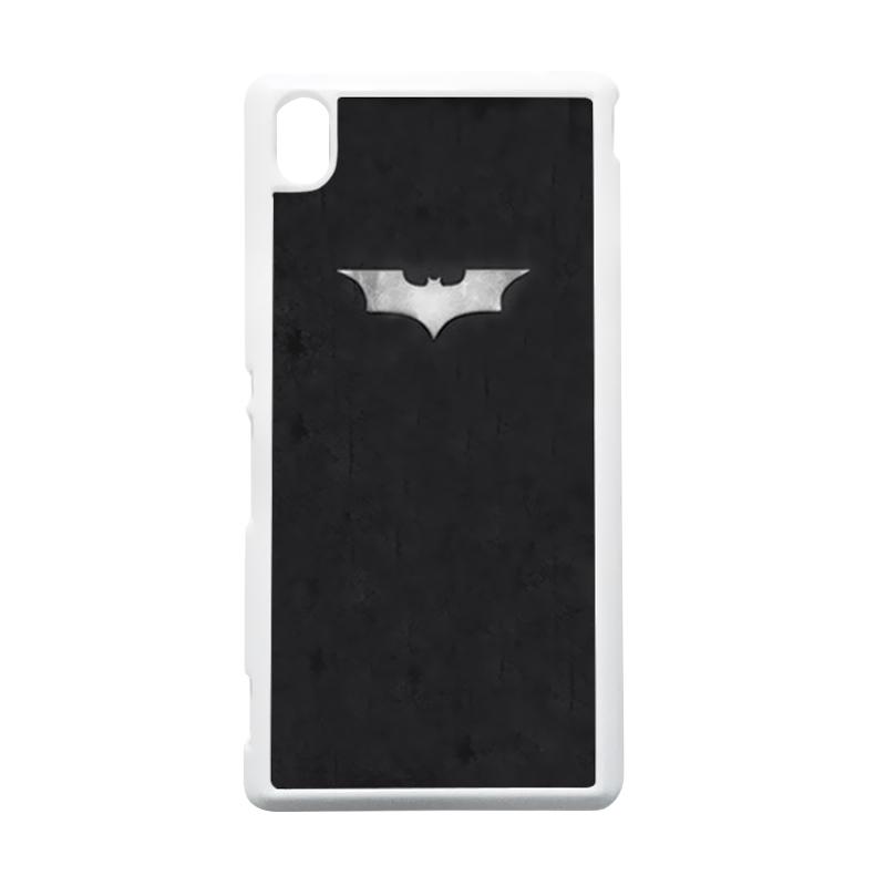 HEAVENCASE Batman 06 Putih Hardcase Casing Sony Xperia M4 Aqua