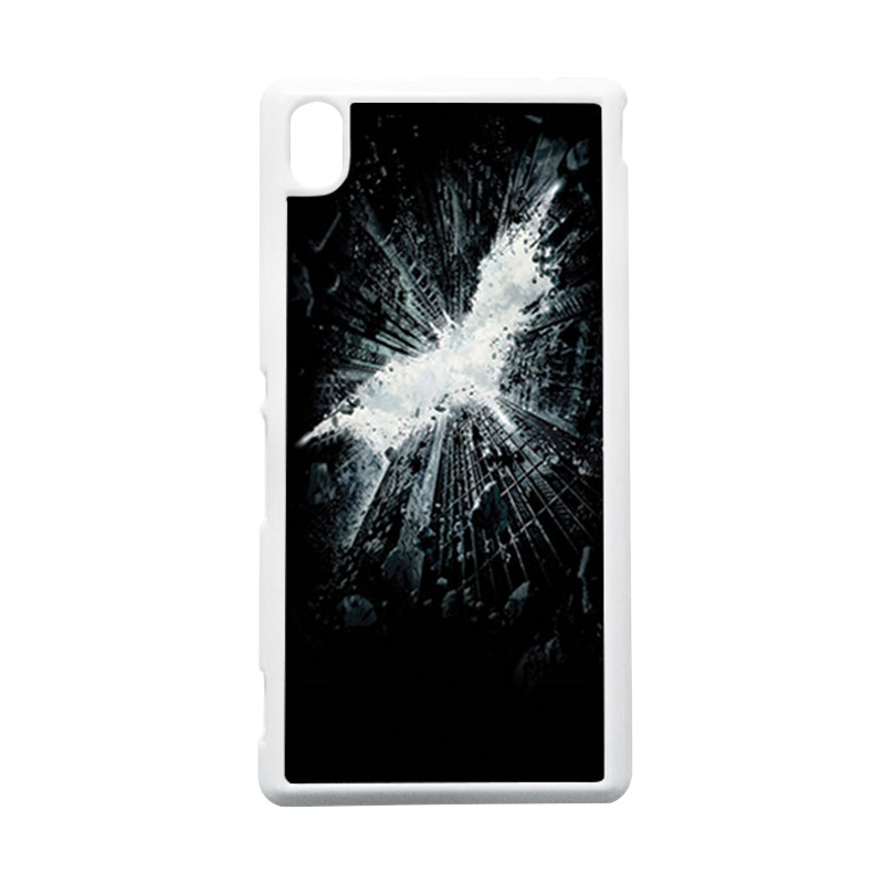HEAVENCASE Batman 07 Putih Hardcase Casing Sony Xperia M4 Aqua