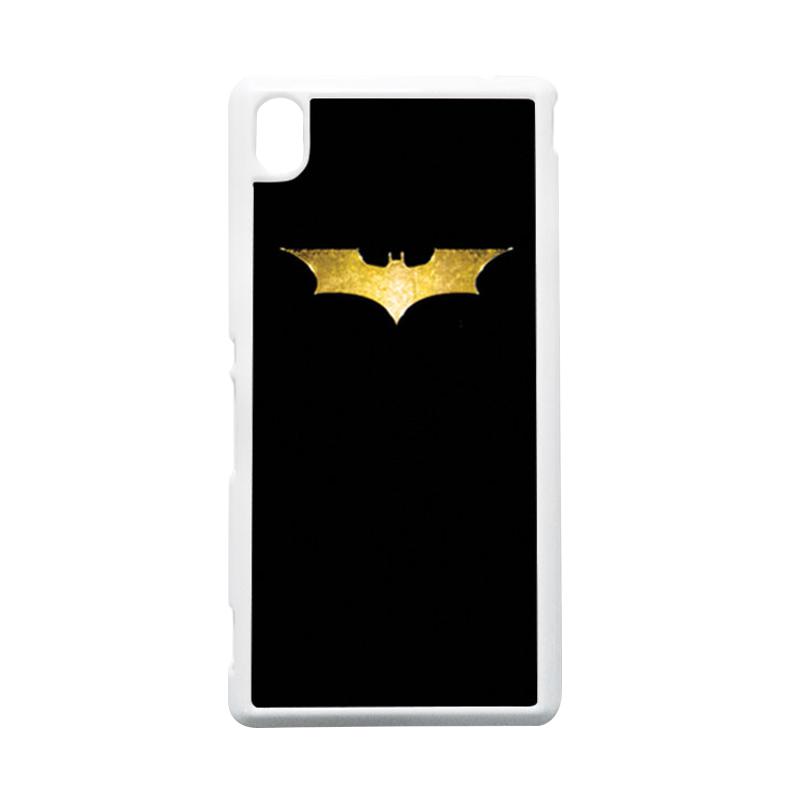 HEAVENCASE Batman 08 Putih Hardcase Casing Sony Xperia M4 Aqua