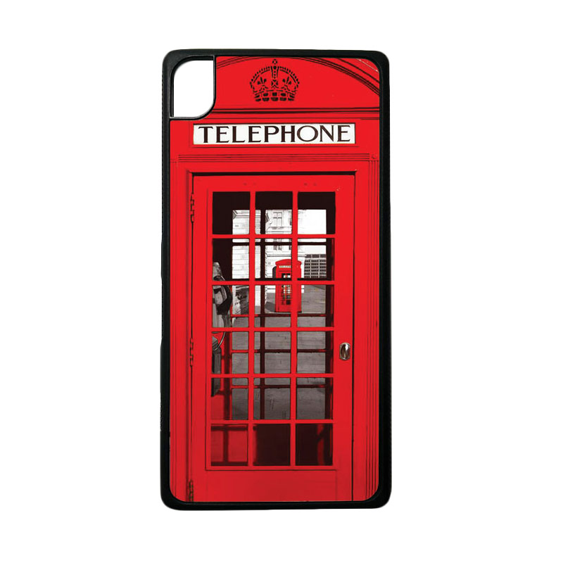 harga HEAVENCASE Motif Red Phone Box Softcase Casing for Sony Xperia Z5 Premium or Z5 Premium Dual - Hitam Blibli.com