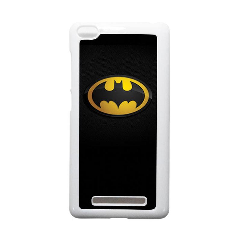 HEAVENCASE Batman 04 Putih Hardcase Casing or Xiaomi Mi4i or Xiaomi Mi4c
