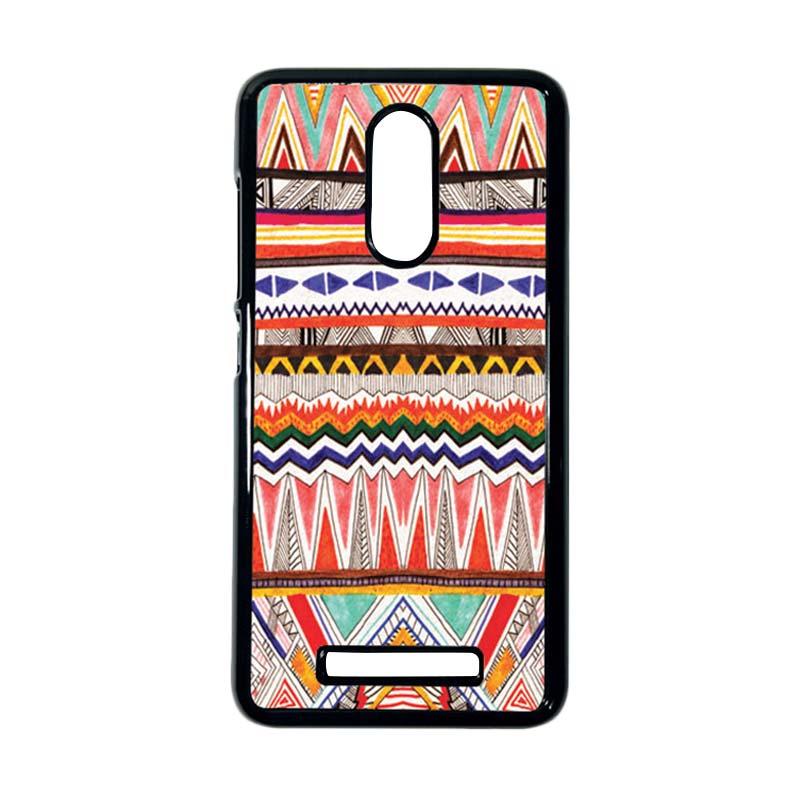 HEAVENCASE Motif Kayu Tribal 02 Hitam Hardcase Casing Xiaomi Redmi Note 3