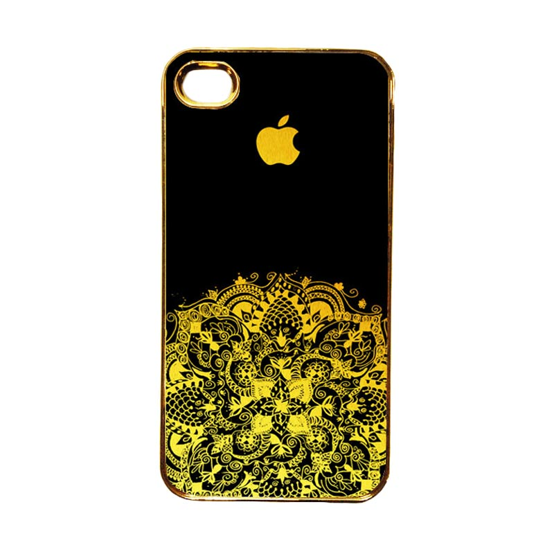 Heavencase Emas Motif Apple 13 Casing for iPhone 4 or 4S - Gold