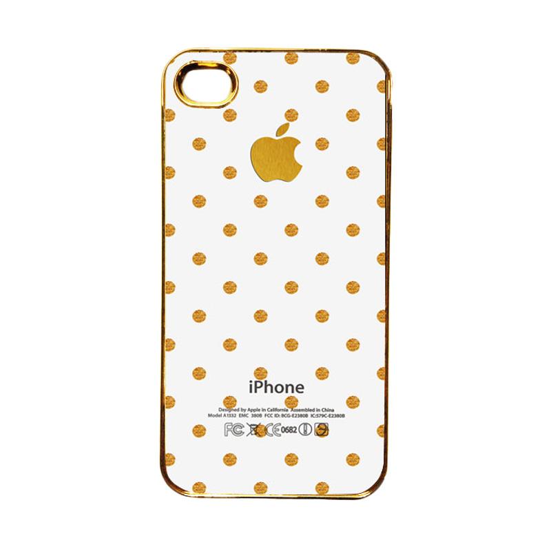 Heavencase Emas Motif Apple 14 Casing for iPhone 4 or 4S - Gold