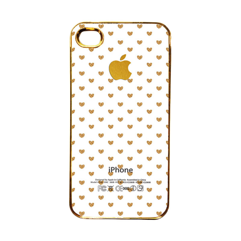 Heavencase Emas Motif Apple 15 Casing for iPhone 4 or 4S - Gold
