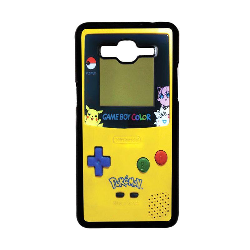 Heavencase Gameboy Pokemon 07 Black Hardcase Casing for Samsung Galaxy Grand Prime