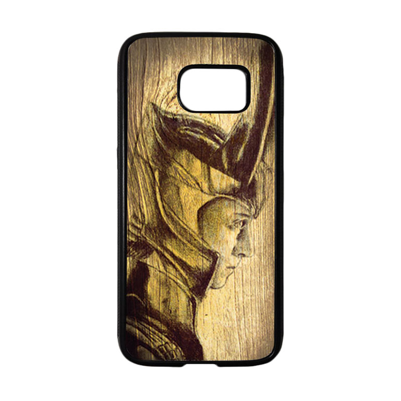 HEAVENCASE Hitam Loki 02 Softcase Tpu Bumper Casing for Samsung Galaxy S7