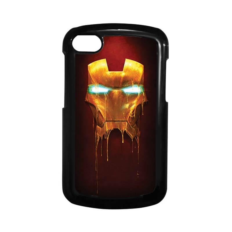 HEAVENCASE Ironman 01 Hitam Hardcase Casing for Blackberry Q10