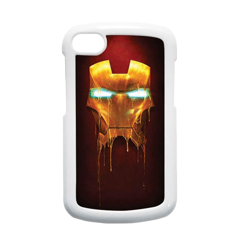 HEAVENCASE Ironman 01 Putih Hardcase Casing for Blackberry Q10