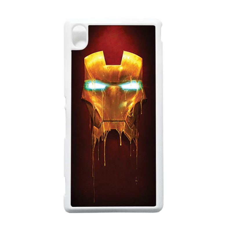 HEAVENCASE Ironman 01 Putih Hardcase Casing for Sony Xperia M4 Aqua