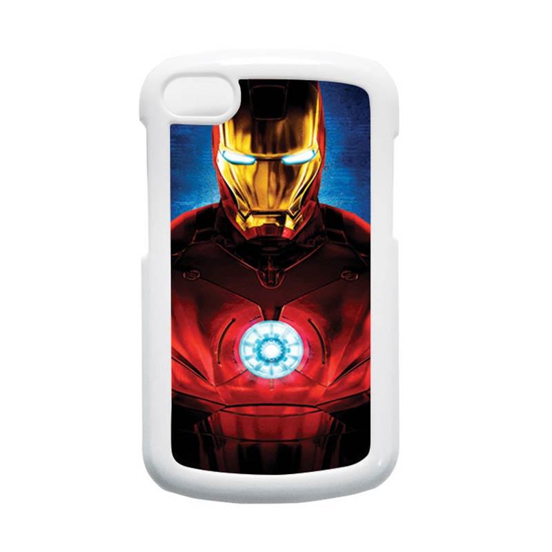 HEAVENCASE Ironman 06 Putih Hardcase Casing for Blackberry Q10