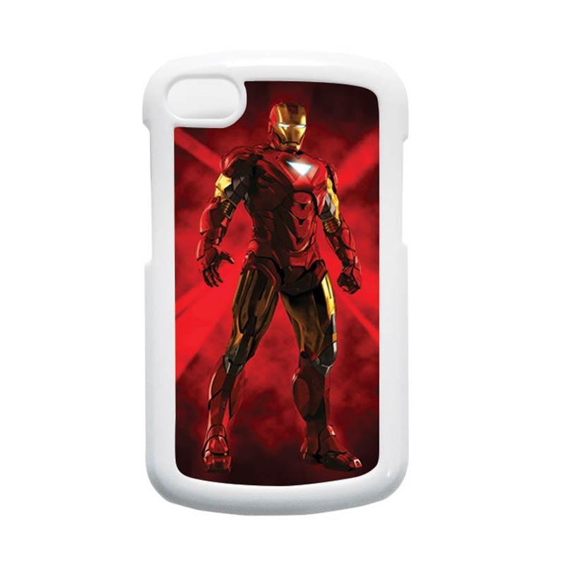 HEAVENCASE Ironman 08 Putih Hardcase Casing for Blackberry Q10