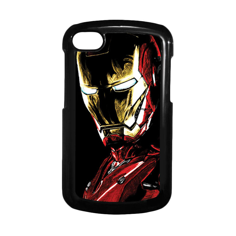HEAVENCASE Ironman 09 Hitam Hardcase Casing for Blackberry Q10