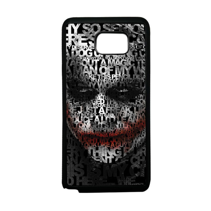 HEAVENCASE Joker 04 Softcase Bumper TPU Casing for Samsung Galaxy Note 5 - Hitam