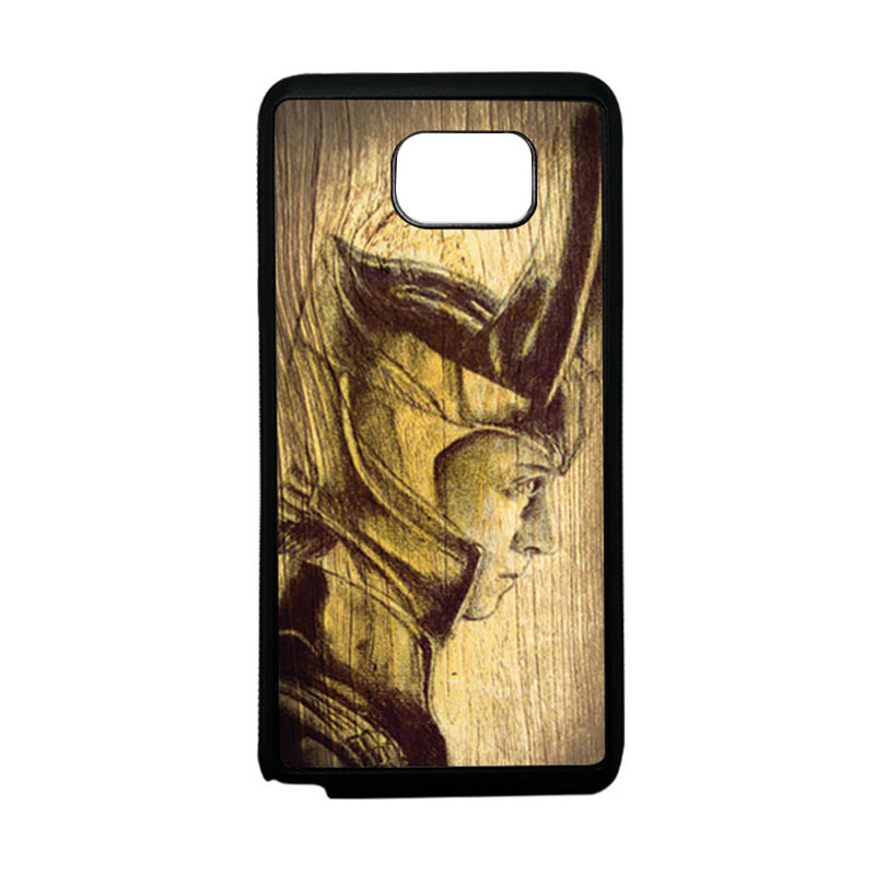 HEAVENCASE Loki 02 Softcase Bumper TPU Casing for Samsung Galaxy Note 5 - Hitam